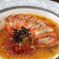 料理メニュー写真マグロのカルパッチョ/北海真ダコのカルパッチョ