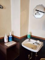コロナ感染対策として、手洗い・アルコール消毒をご用意