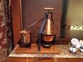 イタリアの食後酒、グラッパを作る蒸るい器のミニチュアです。