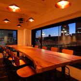 【テーブル14席】 夜は一段と大人の雰囲気に・・・大切なひとときをお過ごしください◎