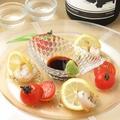 料理メニュー写真白玉ホタテのカルパッチョ風~わさびレモンダレ~