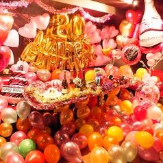 6~20名迄の個室は一面鏡張りでお祝いサプライズ装飾等もOK★ケーキや音響設備等20大特典が無料!