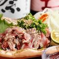 料理メニュー写真★雷音オススメ!★ 炭焼き鶏のたたきポン酢