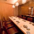 少人数での催しに10名テーブル個室