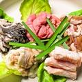 料理メニュー写真看板ホルモン5種盛り