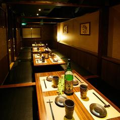 16名様までの利用可能な宴会個室を完備しております。会社同僚の宴会や接待での人気が高く、くつろげると好評です。熟知したスタッフが丁寧にご対応させて頂きます♪