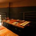 <半個室>焼き台2台の座敷席ですので3世代のご家族や接待のお客様に人気です。