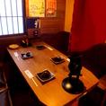4名様の個室風テーブル席。