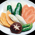 料理メニュー写真旬の野菜焼き盛り合わせ
