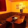 6名様の個室風テーブル席。