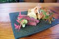 料理メニュー写真【会席】黒毛和牛ランプ鍋の炙り焼きと焼きタラバ蟹
