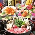 【飲み放題コース】仙台牛のすき焼きコース飲み放題付きで3500円~!