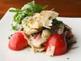 人気の逸品 上ミノのタリアータ フレッシュトマトとルコラのサラダ仕立て