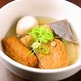 姫路風おでん盛り合わせ630円(税抜)。姫路と言えばしょうが醤油で食べるおでん!出汁がたっぷり染みたおでんは日本酒や焼酎と相性◎
