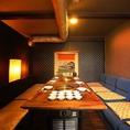 <半個室>2階の一番奥はソファー個室です。ソファーが10席のVIP空間です。
