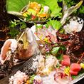 近海でとれた新鮮な活魚を匠の技で調理!見た目も美しいお料理を提供いたします!