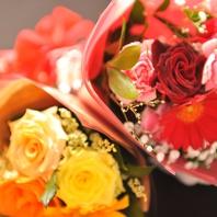 ★特別なパーティーには花束を★