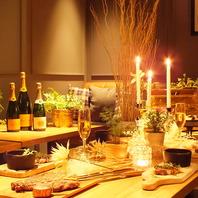 都会で楽しめる、特別な空間とお料理の数々♪