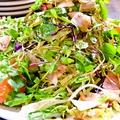 料理メニュー写真クレソンとベーコンのバルサミコサラダ