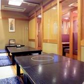 1階「掘り炬燵席」(最大16名まで)・・・「席のみ予約」が可能で、季節の魚料理や高級黒毛和牛のステーキなど・・・お好みの一品料理をお気軽にご注文いただけます。