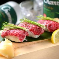 美味☆一度は食べて頂きたい牛肉のお寿司♪