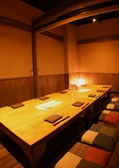 個室の仕切りを外し、テーブルをつなげると最大10~12名様でご利用いただける団体様用のお席に。貸切空間で楽しめます。個室ご希望の場合は早めのご予約をおすすめします♪各種宴会のご予約絶賛受付中!