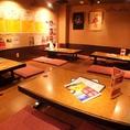 4名席×6卓のお座敷席。会社宴会に!