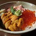 料理メニュー写真三色丼