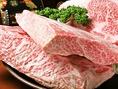 黒毛和牛を中心に、最高級のお肉を厳選仕入れています。