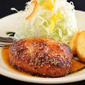 料理メニュー写真手ごねハンバーグステーキ膳(180g)