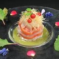料理メニュー写真真鯛とフルーツトマトのカルパッチョ
