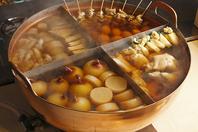 【水炊き 華味鳥】の和風出汁で炊いた創作おでん。