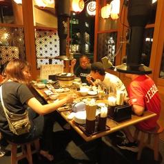 テーブル席は全9卓あります!人数に応じてご案内致します。