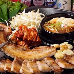 サムギョプサルセット(2人前~) ※肉の追加 (1人前)500円
