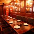 【~14名席】団体様用のお席です。14名様までは一列でのご用意が可能です。