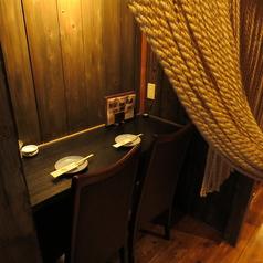 2名様専用席! 自慢の≪日本酒≫を片手に隠れ家感満載の≪デート≫や、プライベート感たっぷりの≪女子会≫など落ち着いた和の空間をお楽しみ頂ける2席限定の人気席です。 ご予約はお早めに!