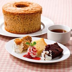 料理メニュー写真3種のシフォンケーキ