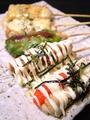 料理メニュー写真明太マヨ/梅肉マヨ/キムチマヨ/とろ~りチーズ/梅しそ巻/ねぎ味噌