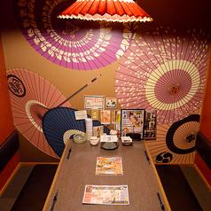 テーブル席の個室です。デート・コンパ・子連れ・接待どんなシーンでも合います。