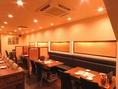 4席×6テーブルあり。急な飲み会や飛び込みのお客様にもお勧めのテーブル席。