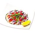 料理メニュー写真アジのカルパッチョ