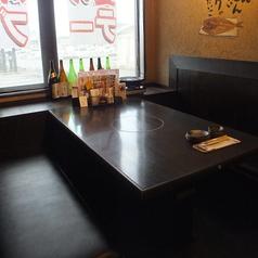 4名掛けのBOXテーブル席