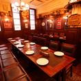 【16名~24名席】団体様用のお席です。15名様以上は2テーブルに分かれる形で、最大24名様までは近いお席でのご用意が可能です。