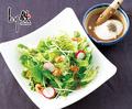 料理メニュー写真とり鉄サラダ  和風ドレッシング