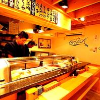 座席数とVIPルームもある立ち喰い寿司店「まんぼう」