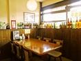 大きなテーブル席は各種ご宴会にOK。