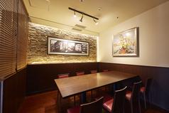 ◆ハレの日のお食事に、個室もご用意◆6~8名で利用可能な半個室(ガラス張り)
