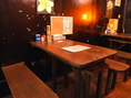 昭和の雰囲気ただようテーブル席。