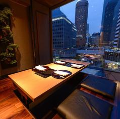 デート用個室、夜景を一望できます