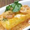 料理メニュー写真エビのトマトクリームオムライス